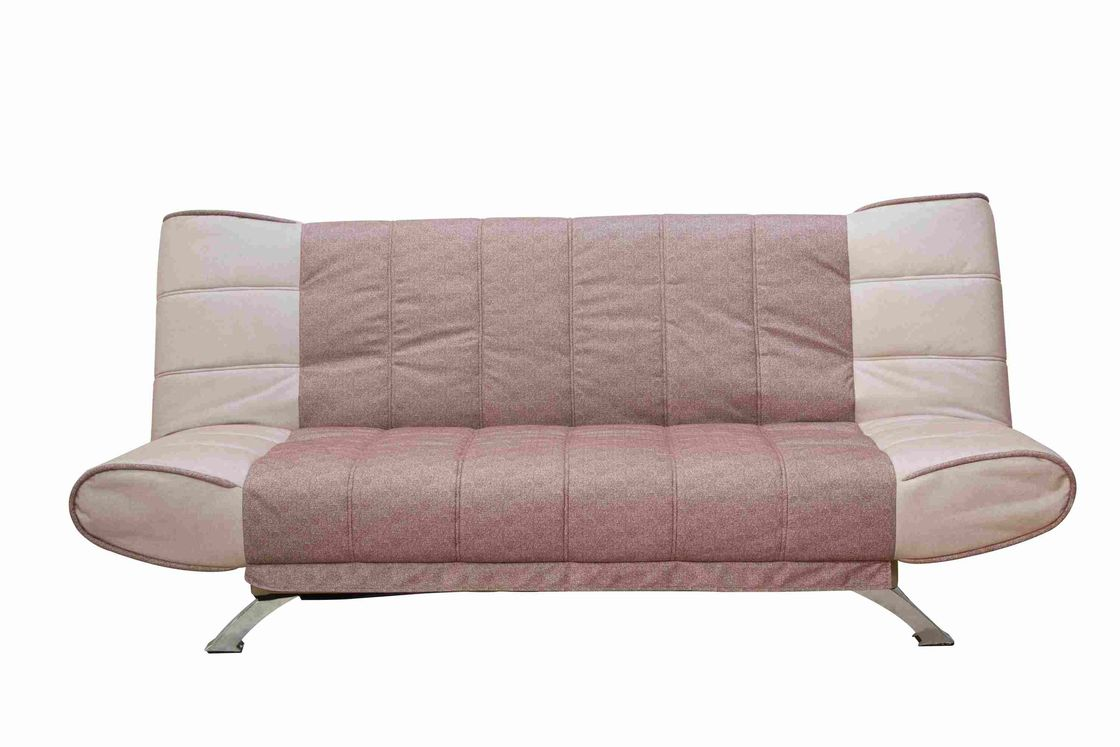 Brown Flodable Sectional Sleeper Sofa , 3 Seater Sofa Bed With Adjustable Backrest