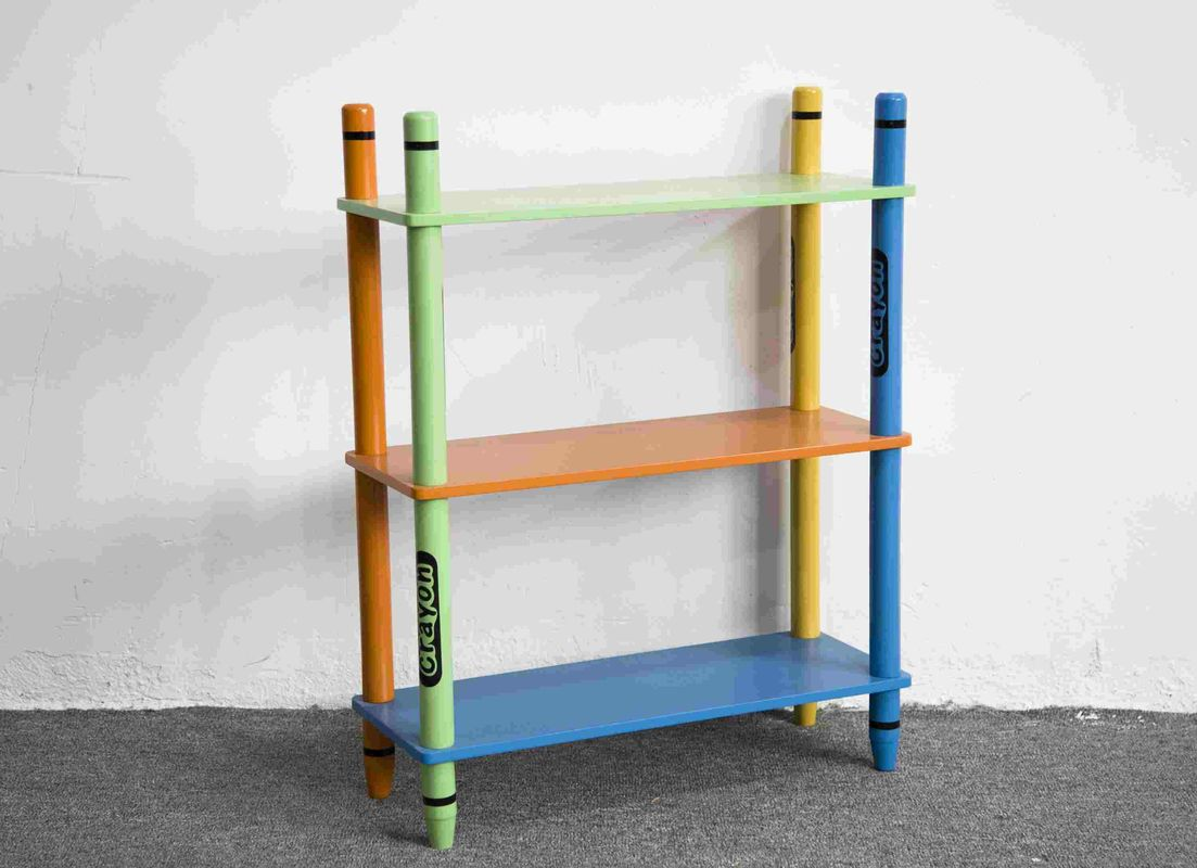 70CM Height Colorful Crayon Design 3 Layer Storage Shelves Toy Organizer